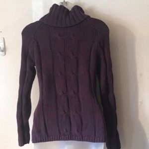 Relativity Sweaters - RELATIVITY heavy turtleneck cable knit sweater PS